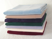 创新植绒毛毯展示