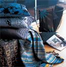 忧郁蓝色床品赋予卧室无限奢华