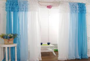 韩式雪纺布艺窗帘打造浪漫居室