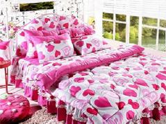 舒适韩式床品打造冬日温暖卧室