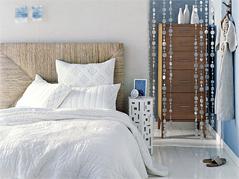 白色床品打造卧室自然情调