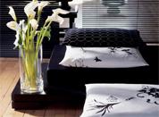 黑白床品为你的简约居室添添精致