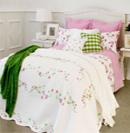 清新色彩床品打造清凉感卧室