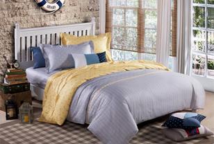 现代简约床品打造清新自然卧室