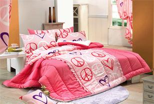 韩式床品打造冬日甜美温暖卧房