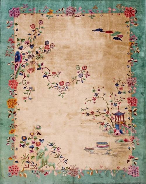 清新淡雅中国风 民国时期地毯纹样鉴赏