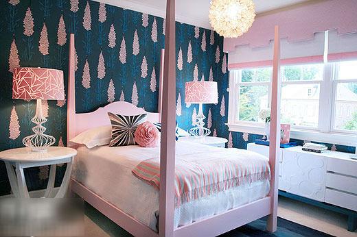 小清新風格 12款受女生歡迎的小臥室