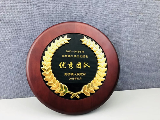 热烈祝贺水星家纺荣获南桥镇公共文化建设团队奖项