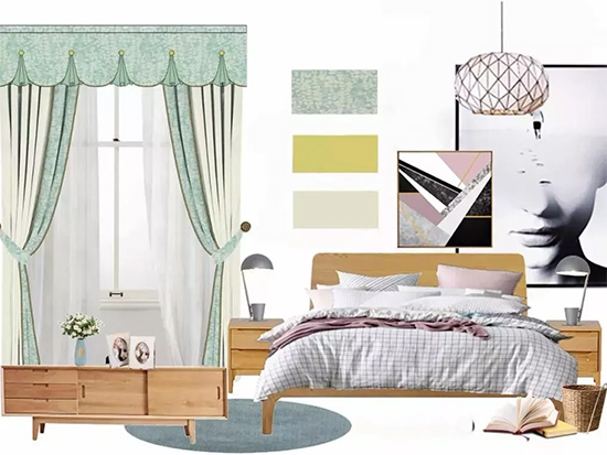 寐莎�教你简约风卧室,窗帘怎么选好大哥看?