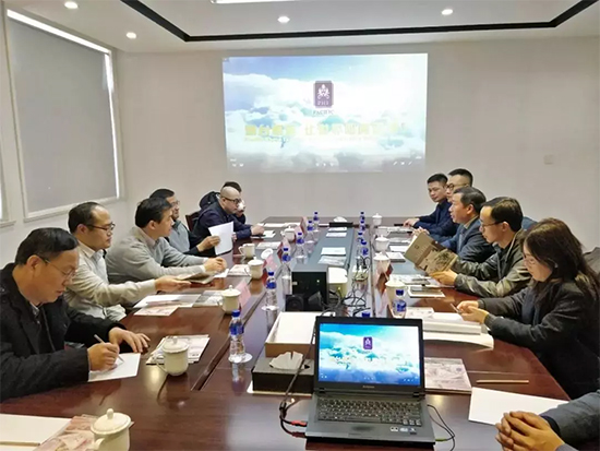 中国纺织进出口商会会长一行参观调研明远家纺
