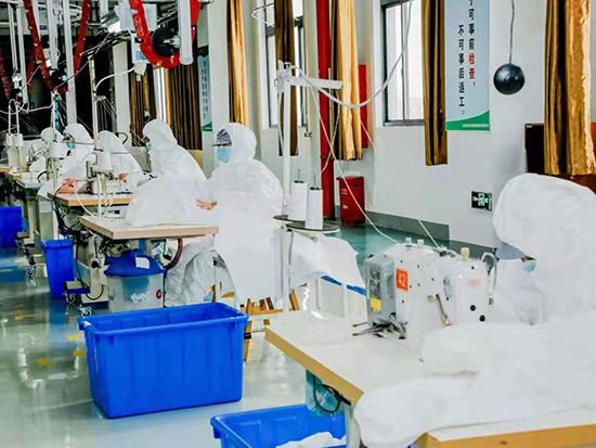 奉賢一家紡企業今起轉產生產防護服,日產量預計超2000件