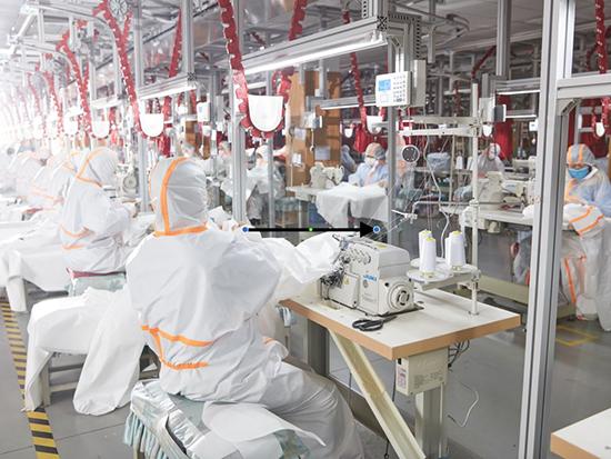夢潔集團投產醫用口罩及防護服,日產10萬跑出抗疫速度!