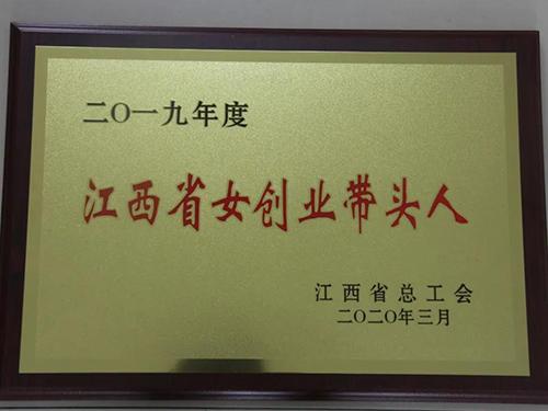"""雨兰家纺副总经理万桂兰获""""江西省女创业带头人""""称号"""