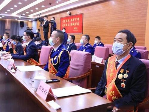 愉悦家纺董事长刘曰兴荣获全国119消防奖先进个人